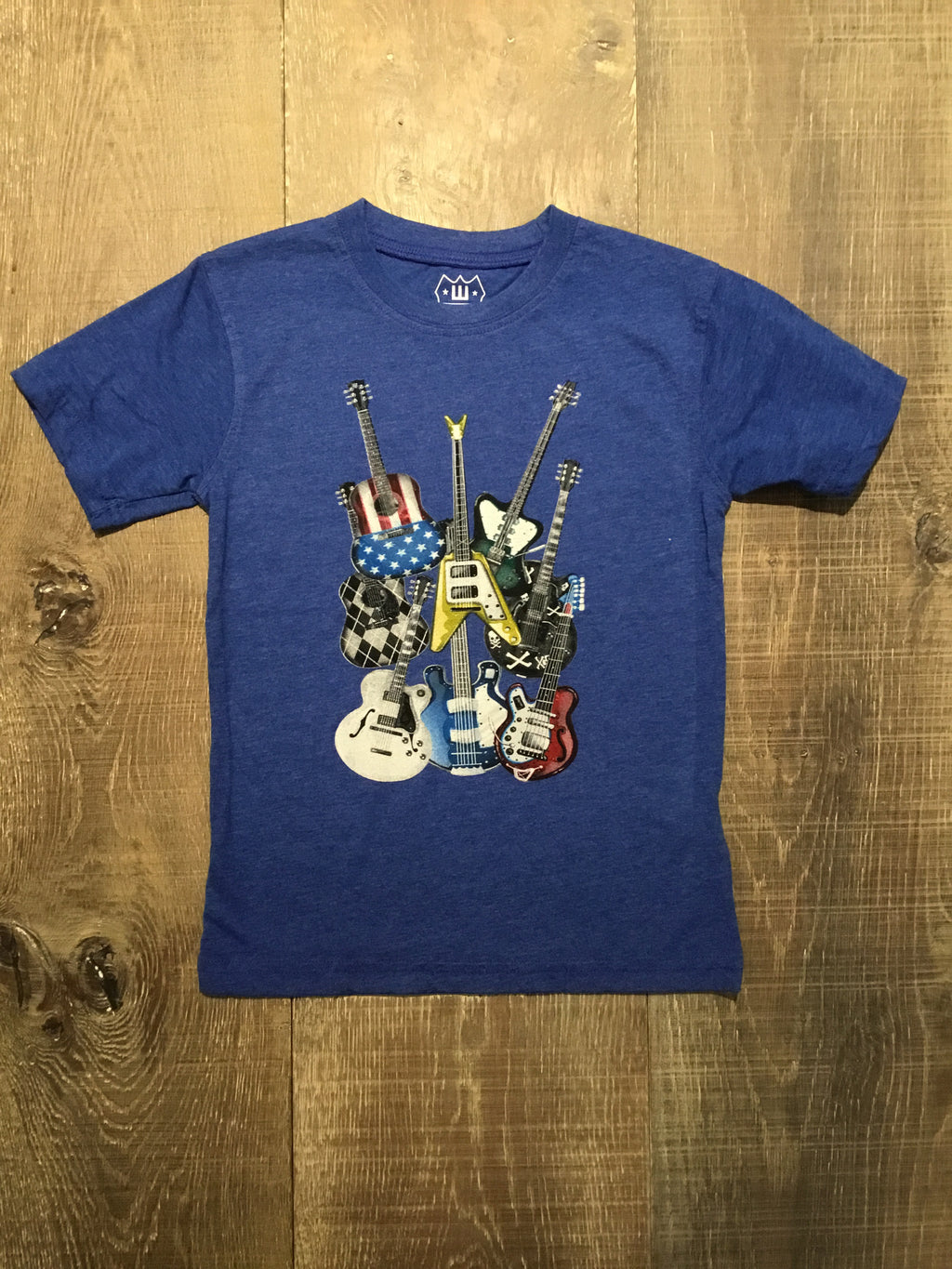 Guitars on Blue Tee