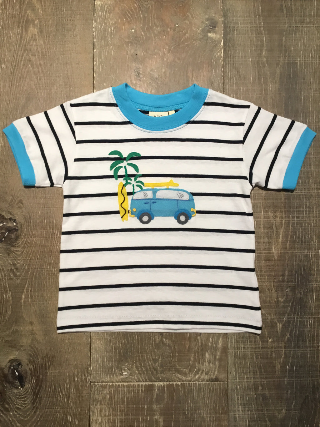 B&W Striped Surf Van T-Shirt