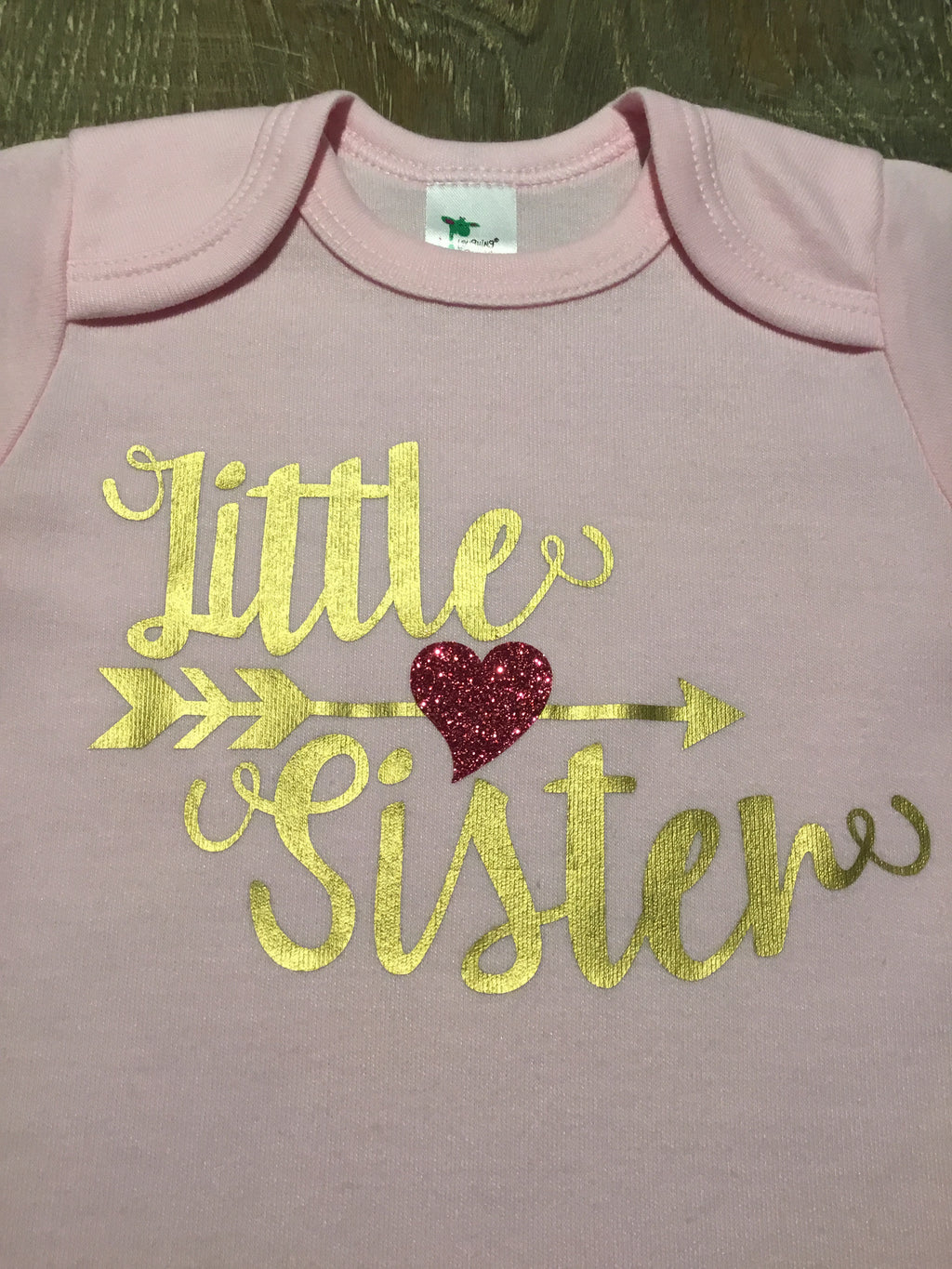 Little Sister Arrow Heart Onesie