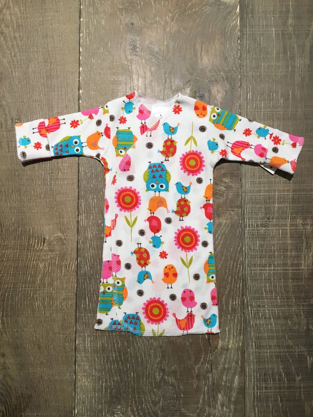 Krazy Birds Preemie Long Shirt