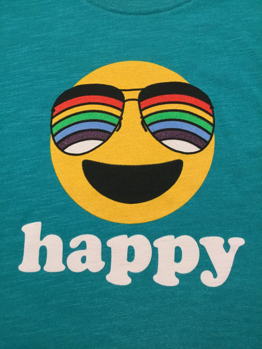 """Happy"" Emerald Green Tee"