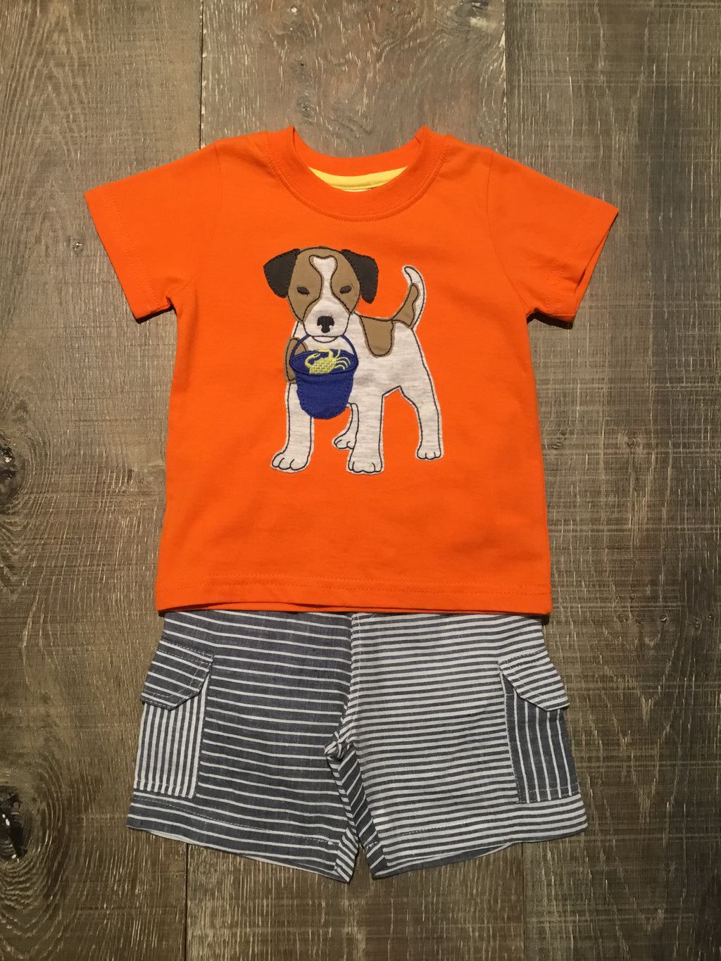 Beach Dog Shirt & Shorts Set