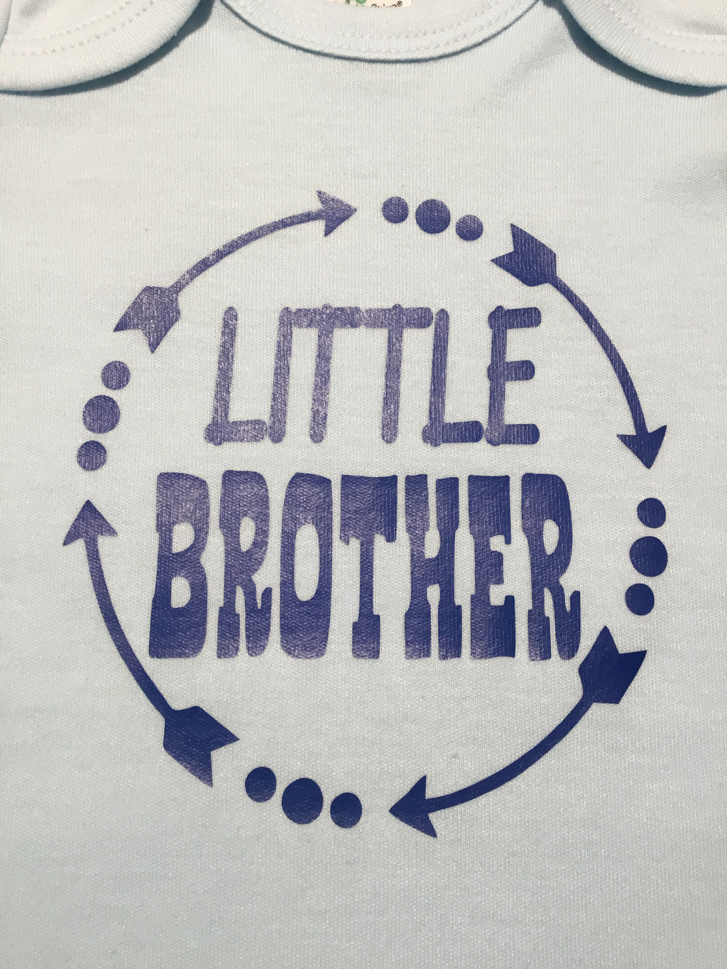 Little Brother Arrow Circle Onesie