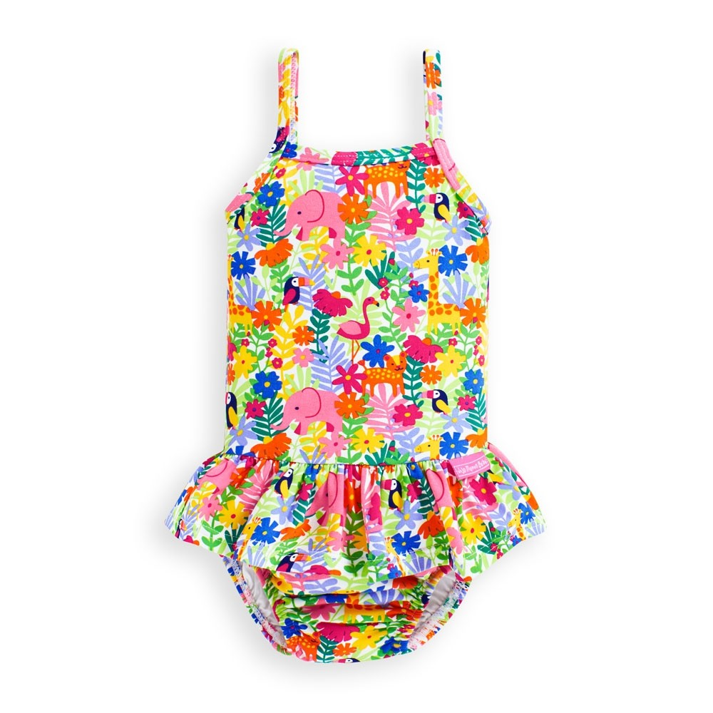 Jungle Print Bathing Suit with Swim Diaper