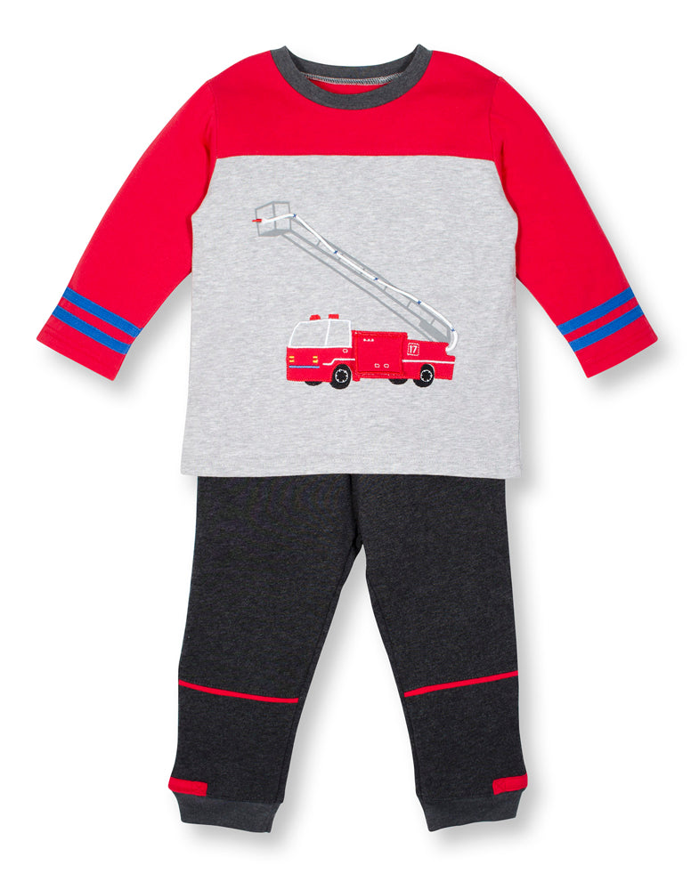 Fire Engine #17 Long Sleeve and Pant Set