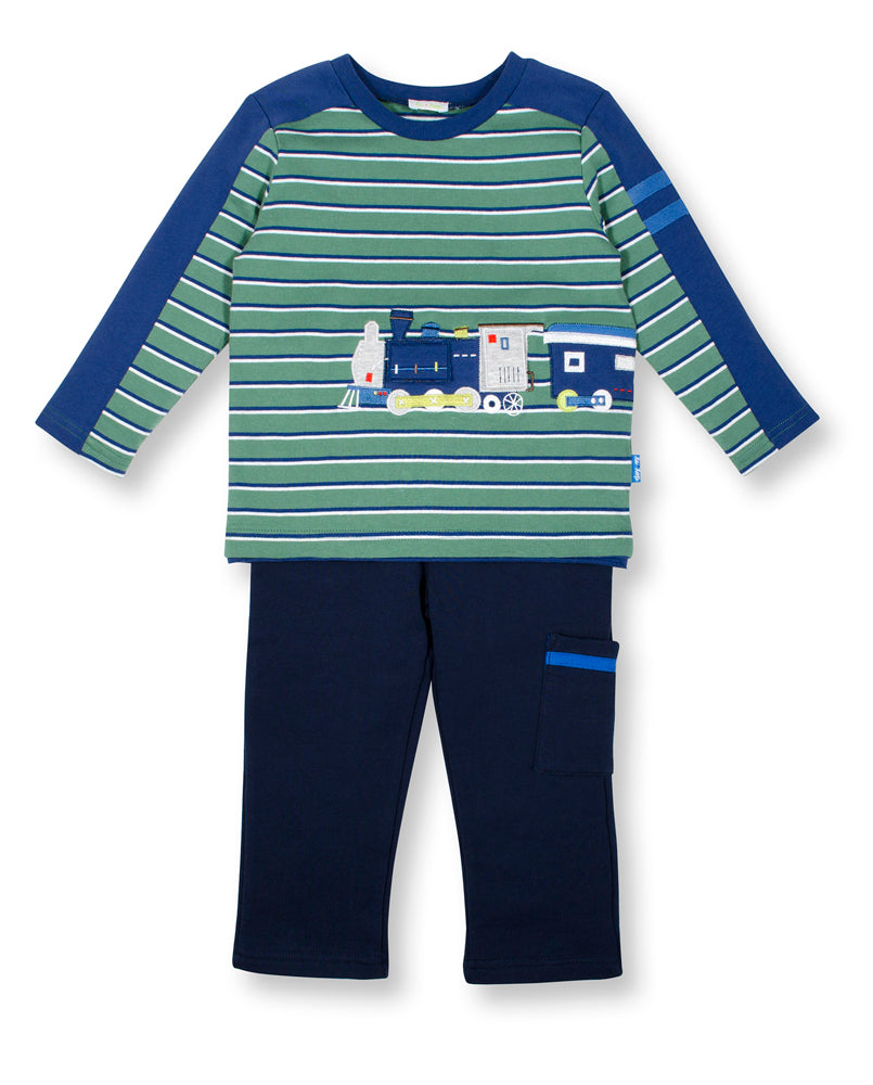 Wrap Around Train Long Sleeve and Pant Set