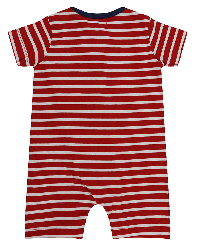 Red & White Stripe Romper