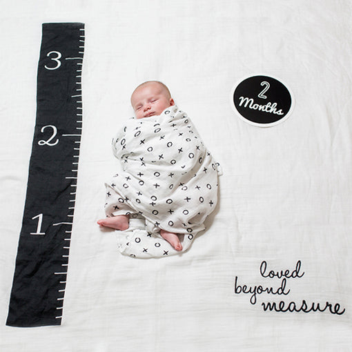 Loved Beyond Measure Baby's First Year blanket & card set