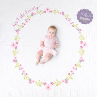 Isn't She Lovely Baby's First Year blanket & card set