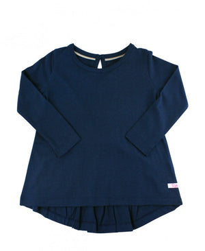 LAST ONE: Size 8 - Navy Long Sleeve Bow-Back Top