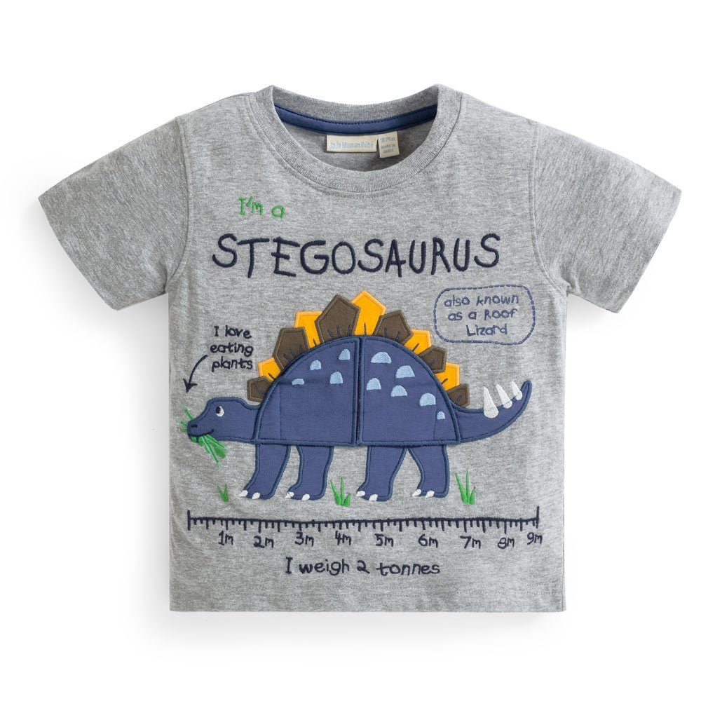 Stegosaurus Tummy Applique Tee