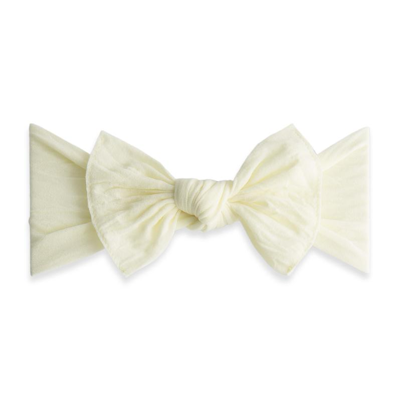 Ivory Baby Bling Classic Knot