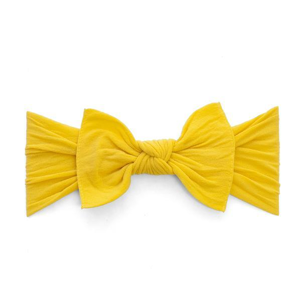 mustard baby bling headband bow