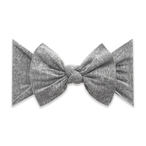 Heathered Grey Baby Bling Patterned Knot