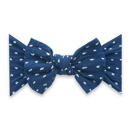 Navy Dot Baby Bling Patterned Knot