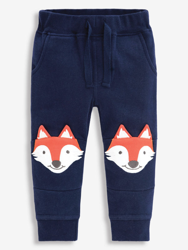 Navy Fox Applique Joggers