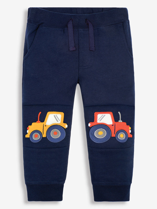 Navy Tractor Applique Joggers