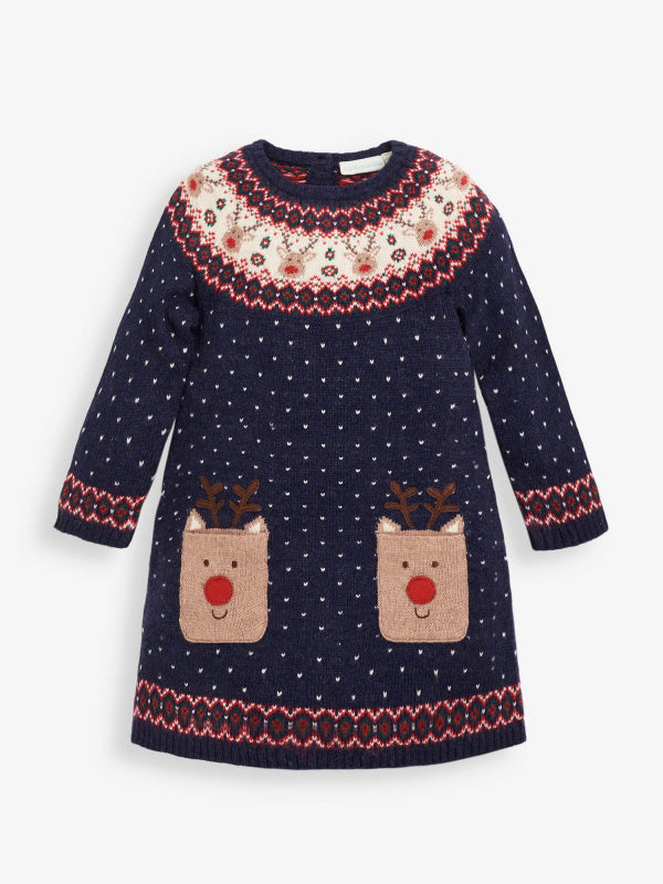 Reindeer Fair Isle Dress