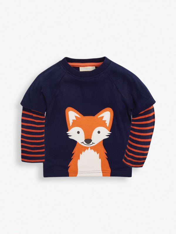 Fox Double Sleeve Top