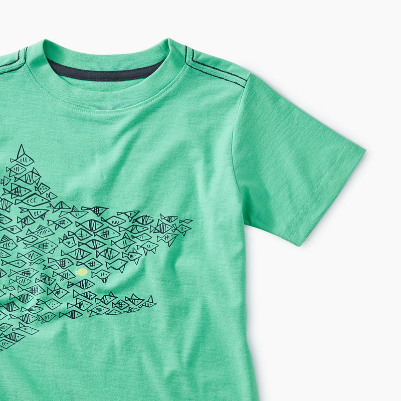 One Big Fish Green Tee