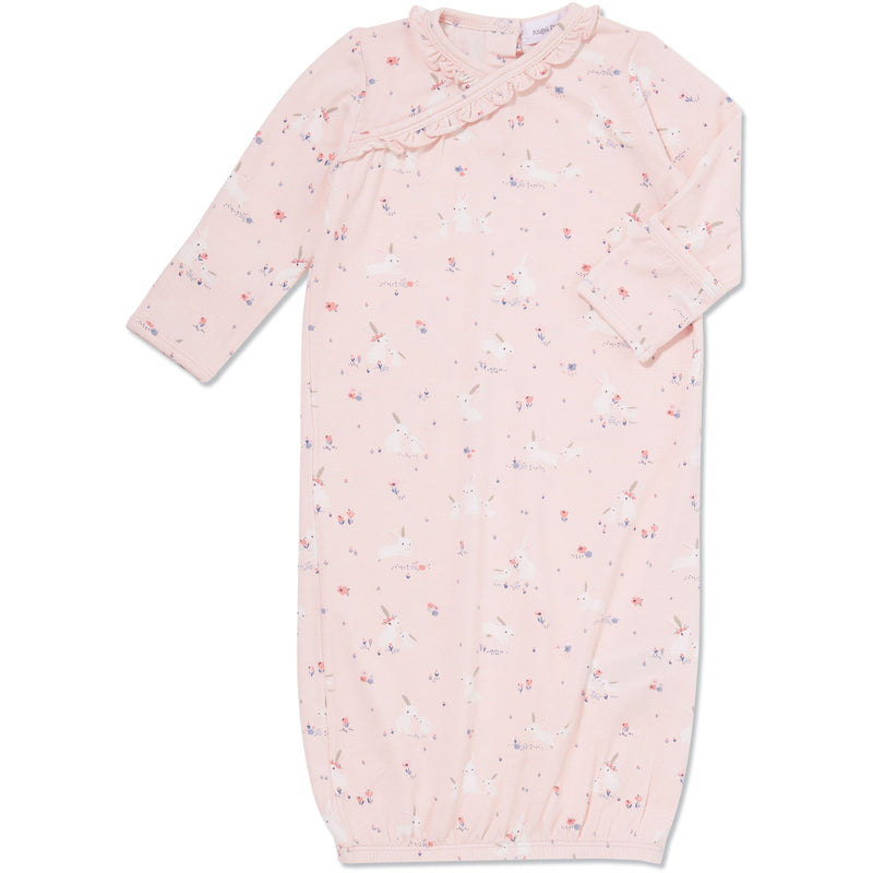 Pink Baby Bunnies Kimono Gown