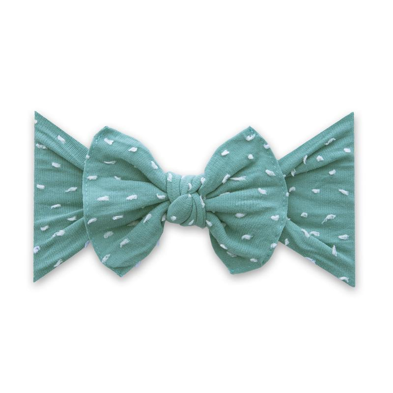 Teal Dot Patterned Shabby Knot
