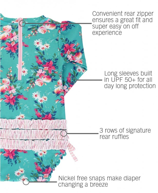 Fancy Me Floral One Piece Rashguard