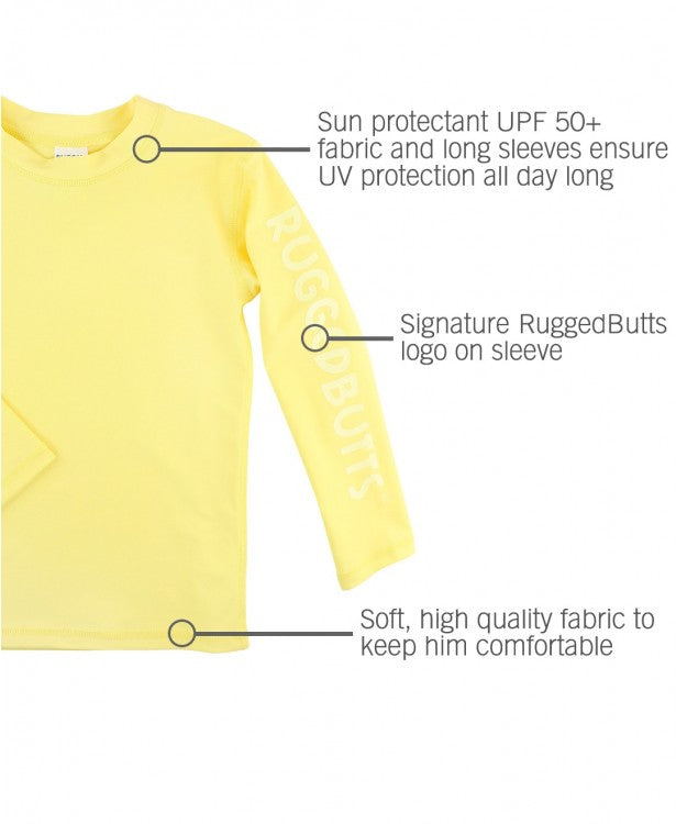 Lemon Logo Long Sleeve Rash Guard