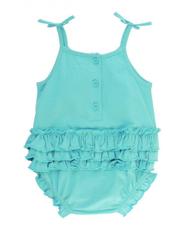 Blue Lagoon Pom Pom Bubble Romper