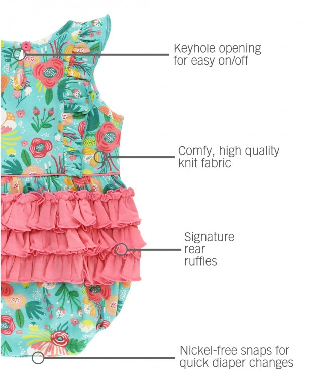Flower Patch Waterfall Bubble Romper