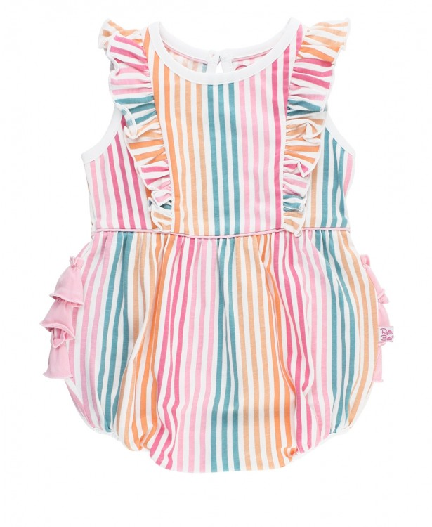 Daydream Stripe Waterfall Bubble Romper