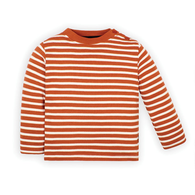 Rust Striped Breton Top