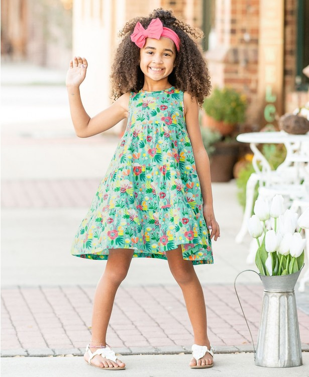 Flower Patch Tiered Dress