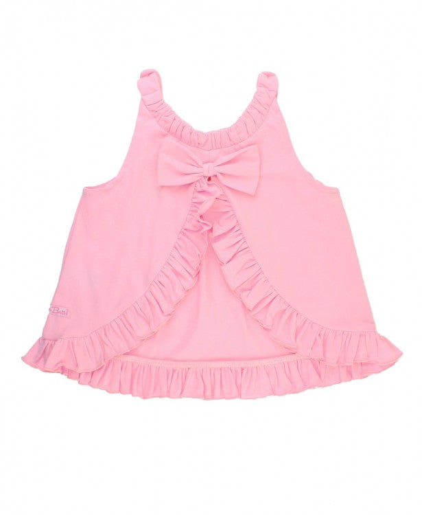 Pink Ruffle Swing Top & Midnight Petals Bow Capri