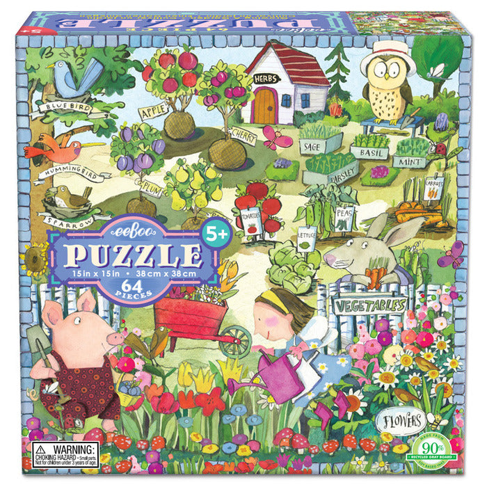 eeBoo Growing a Garden Puzzle