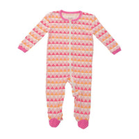 Silkberry Baby Bamboo Triangle Print Footie - Multiple Colors Available