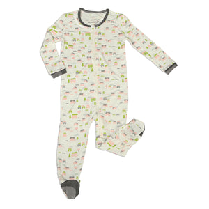 Little Village Print - Silkberry Baby Bamboo Footie