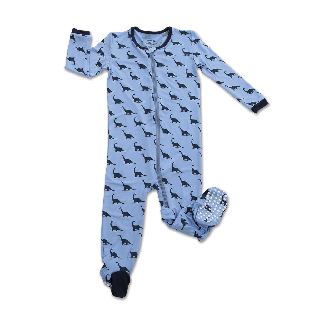 Dino Print Bamboo Footie
