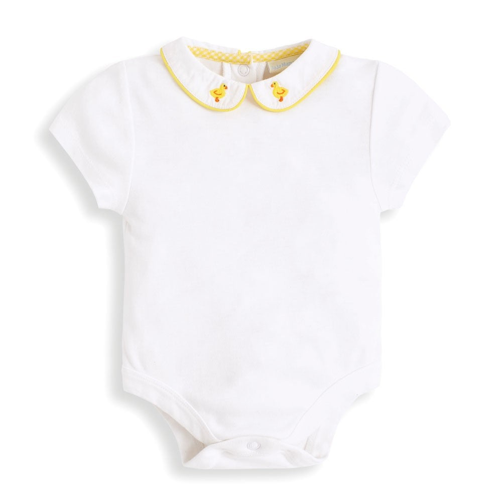 Duckling Embroidered Collar Baby