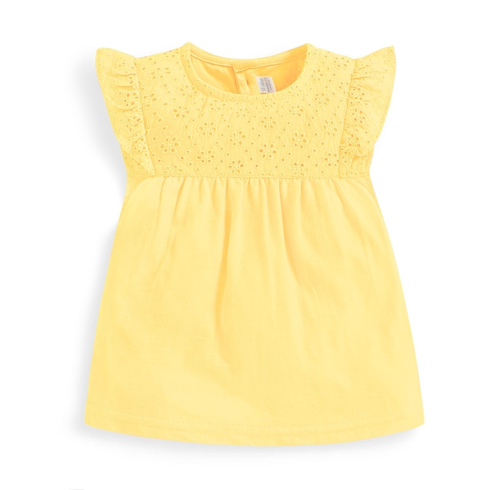 Pretty Embroidered Yellow Top