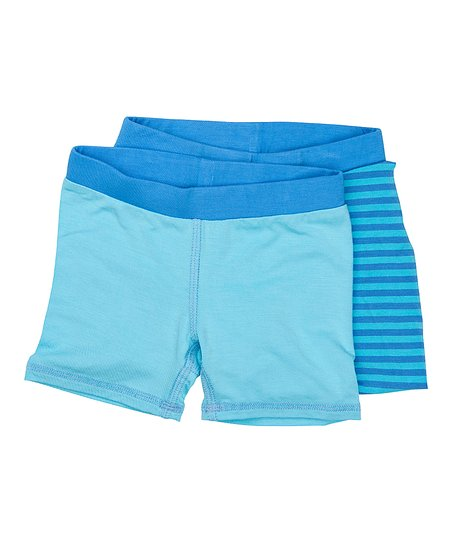 Blue Stripe Boxer Briefs by Sweet Bamboo
