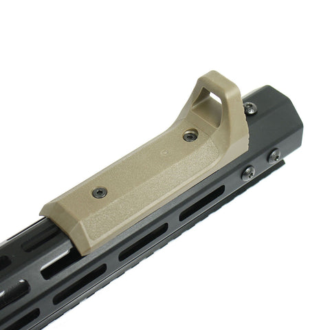 Tactical Fore Grip Foregrip Handstop Fits M-LOK KeyMod Handguard Polymer Tan - West Lake Tactical