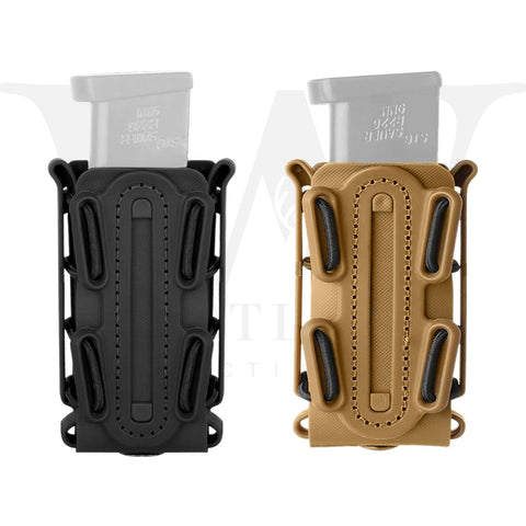 Tactical Scorpion Soft Shell 9mm Pistol Magazine Pouch Carrier Tall W/ Belt Loop - West Lake Tactical