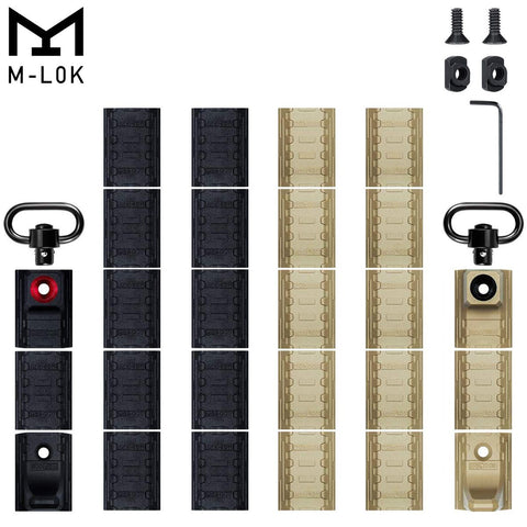 Snap-in M-LOK Rail Panels and M-LOK Hand Stop w/ QD Sling Swivel Adapter 14 PCS - West Lake Tactical