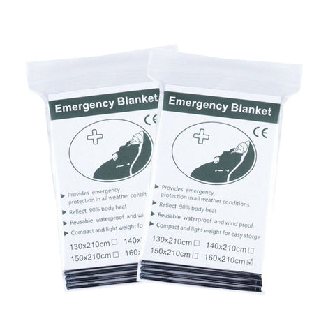 2 Pack Emergency Solar Blanket Packets Insulating Thermal Heat Survival Gear - West Lake Tactical