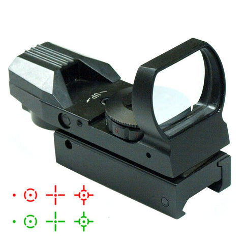 Tactical Holographic Reflex Red Green Dot Sight 4 Type Reticle for 20mm Rails - West Lake Tactical