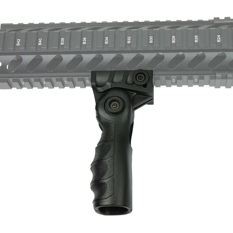 Tactical Push-On QR Vertical Forward Folding Foregrip Grip for Picatinny Rails - West Lake Tactical