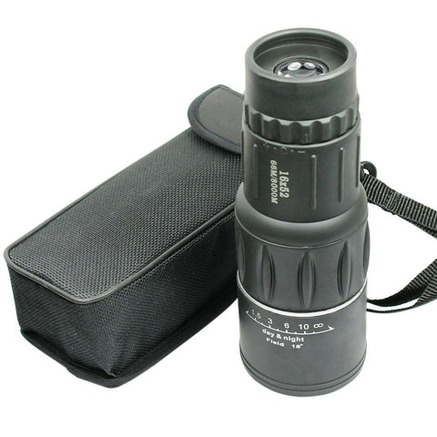16X52 Monocular Zoom Dual Focus Rubber Armored Telescope for Hunting / Camping - West Lake Tactical