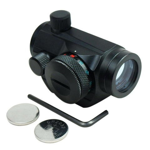 Tactical Weatherproof Adjustable 5 MOA Green Red Dot Sight Scope for 20mm Rails - West Lake Tactical