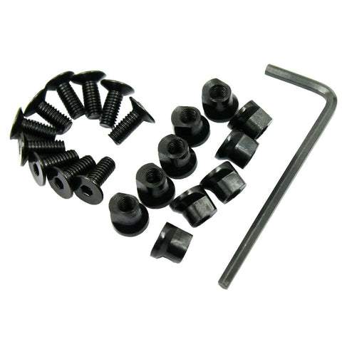 10 Pack KeyMod Screw and Nut Replacement Set for Rail Sections - with Wrench - West Lake Tactical